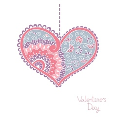 Card with hearts for Valentine day vector image vector image