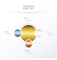 Circle overlap design gold color style vector