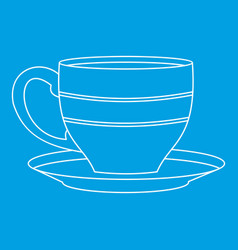 cup icon outline style vector image vector image