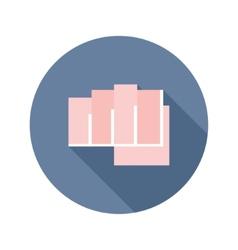 flat modern round fist icon vector image