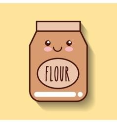Flour food icon vector