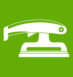 fret saw icon green vector image vector image