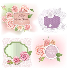 Greeting frames with roses vector image