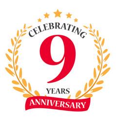 Happy anniversary celebration designhappy annivers vector