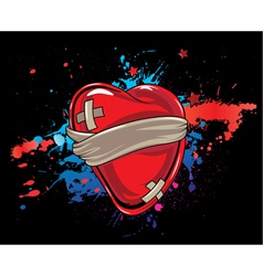 heart with splash vector image vector image