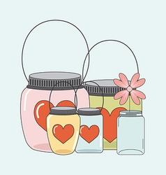 mason jar vector image