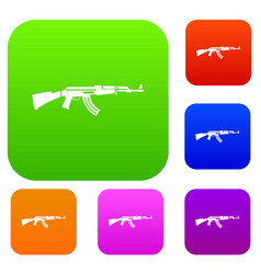 military rifle set collection vector image vector image