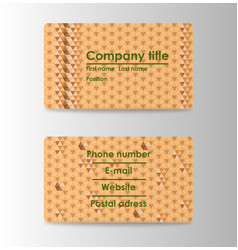 modern business card print templates personal vector image