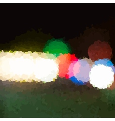 Night City Lights Crystalized vector image