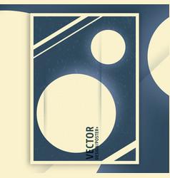 planet vintage interior poster vector image vector image