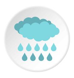 Rain icon circle vector
