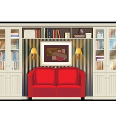 Room with a sofa vector