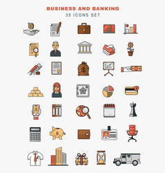 set of icons and elements of application vector image