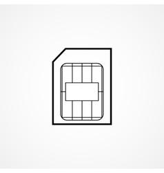 Sim card symbol vector
