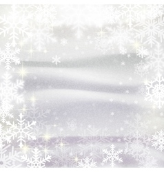 Snowflakes against snowdrifts Winter vector image