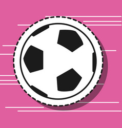 Soccer ball element to play patch vector