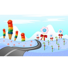 Sweets along the road vector image vector image