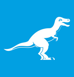 theropod dinosaur icon white vector image
