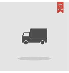 Truck icon Flat design style vector image