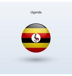 Uganda round flag vector