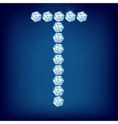 vector diamond alphabet lette t vector image vector image