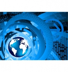 vector tech background with globe vector image vector image
