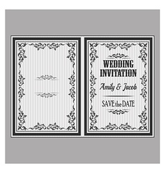 Wedding invitation v vector