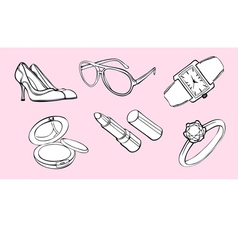 Woman style design elements vector image vector image