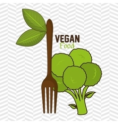 Vegan food healthy fork vector
