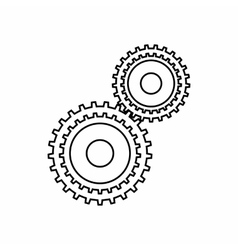 Gear mechanism icon outline style vector
