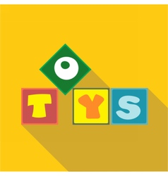 Digital toys box letters vector image