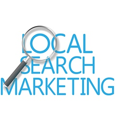 Find local search marketing tool vector