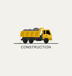 construction truck icon vector image