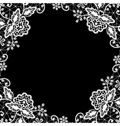 lace on black background vector image