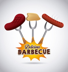 Barbecue food vector
