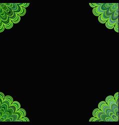 Abstract floral mandala background - digital art vector