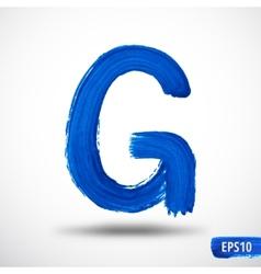 Alphabet Letter G Watercolor Alphabet vector image vector image