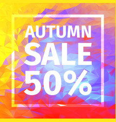 autumn sale of 50 percent banner vector image vector image