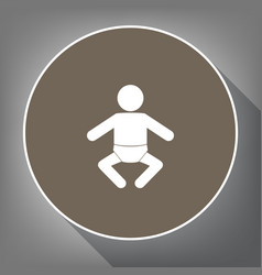 baby sign white icon on vector image vector image