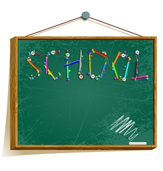 background with school board vector image vector image