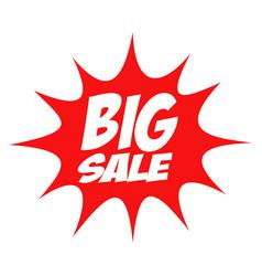 Big sale in comic splash icon vector