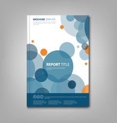 Brochures book or flyer with abstract blue circles vector