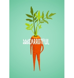 Carrot Diet Colorful Inspirational Vegetable vector image vector image