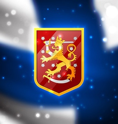 Coat of arms of Finland vector image vector image
