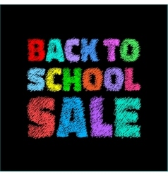 colorful Back to school SALE on black background vector image