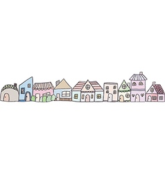 Cute doodle house vector image vector image