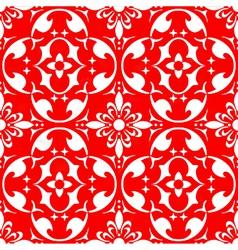 damask wallpaper design vector image vector image