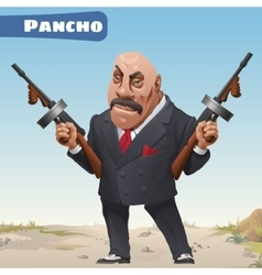 Fictional cartoon character - bandit pancho vector