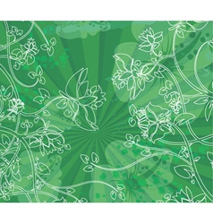 Floral with grunge vector