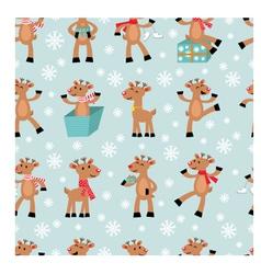funny reindeers background vector image